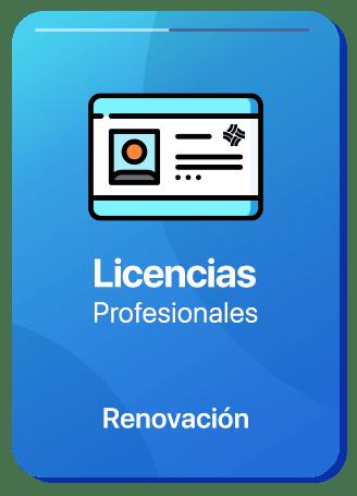 renovación de licencia profesional